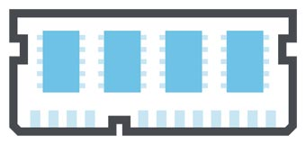 8 GB DDR4 RAM er mer enn nok til skole og jobb.
