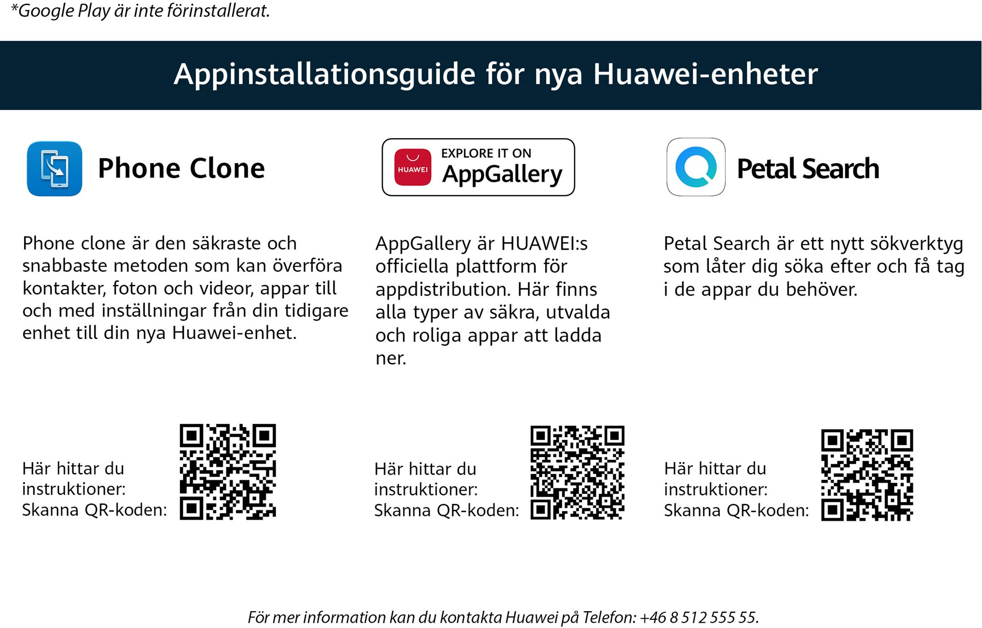 Huawei AppGallery Appinstallationer på Huawei