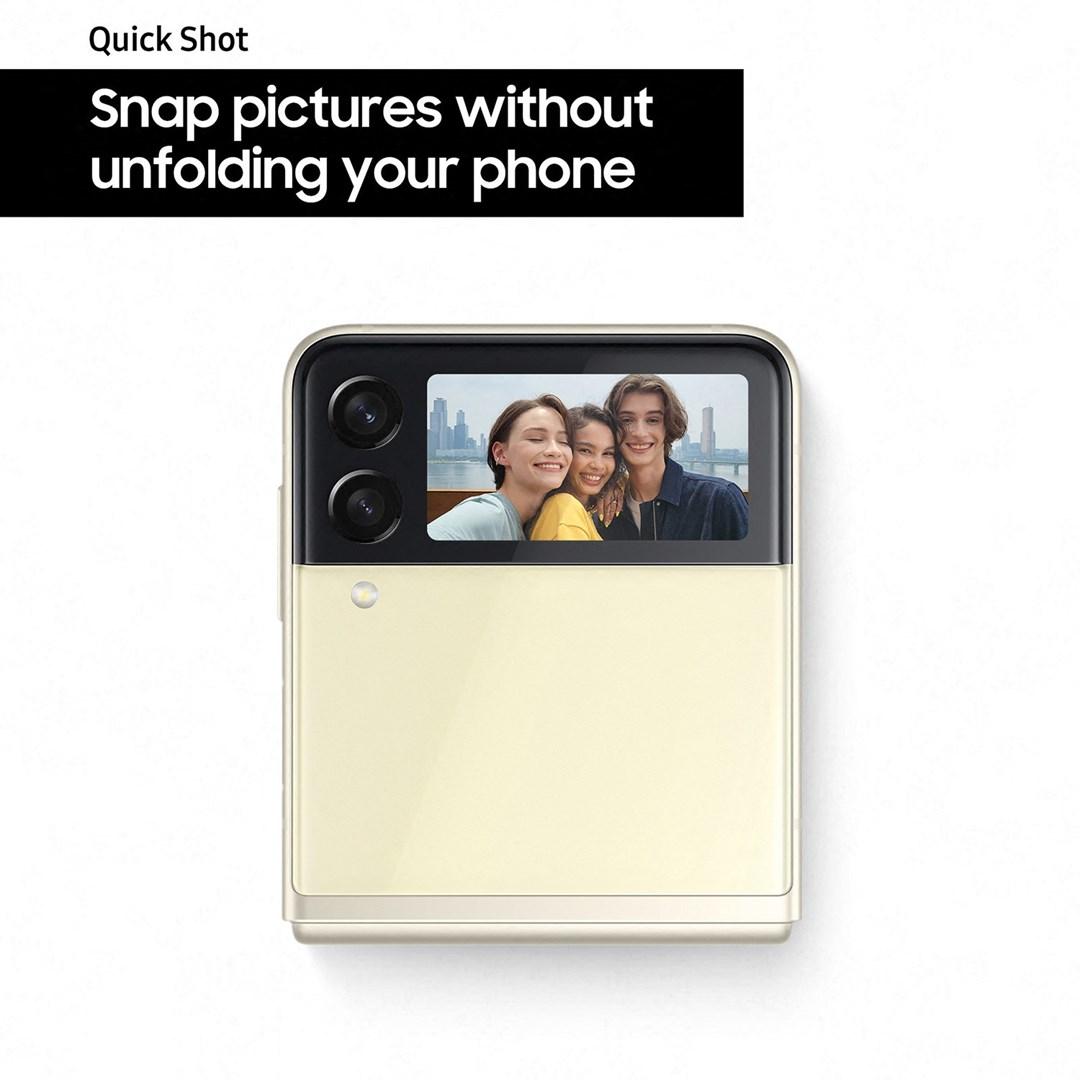 Samsung Galaxy Z Flip3 128GB 5G, ta bilder utan att öppna telefonen