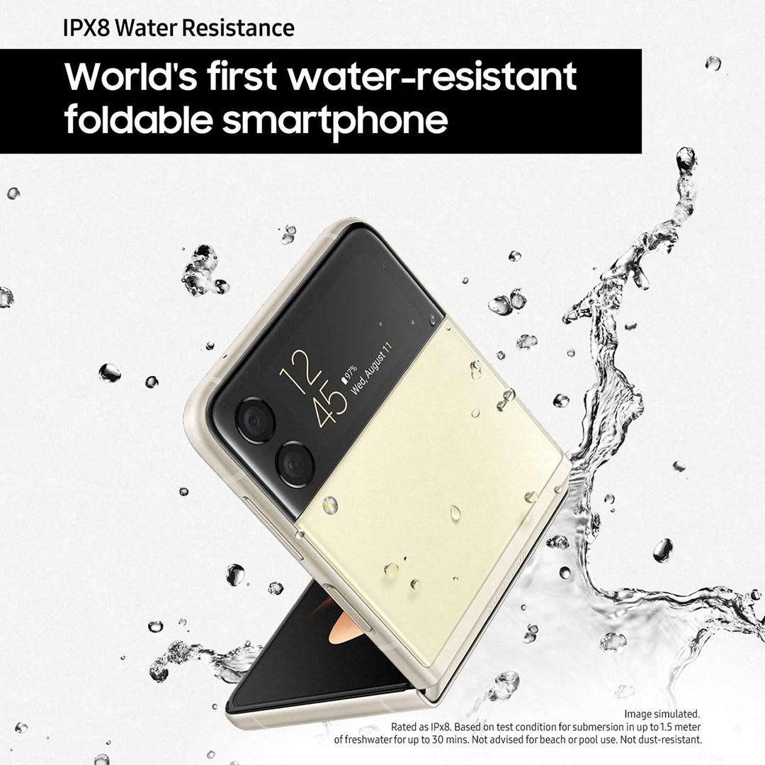 Samsung Galaxy Z Flip3 128GB 5G, världens första vattentåliga viktelefon