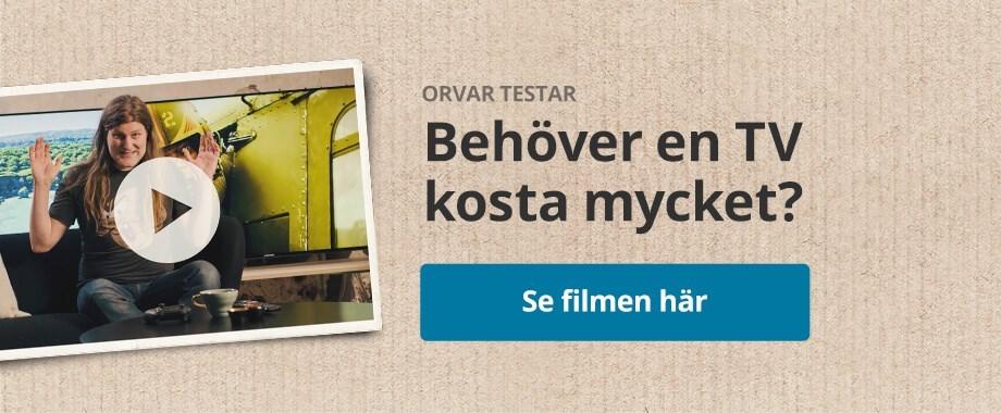 Orvar Säfström testar - behöver en TV kosta mycket?