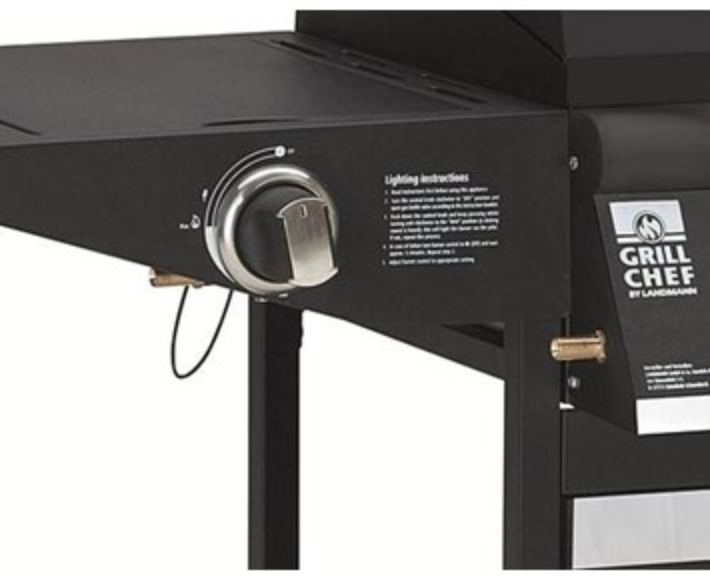landmann grillchef 4 1 stilren svart gasolgrill med 4 st br nnare. Black Bedroom Furniture Sets. Home Design Ideas