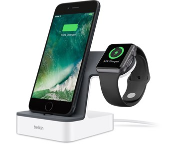 Belkin Powerhouse Charging Dock iPhoneApple Watch White