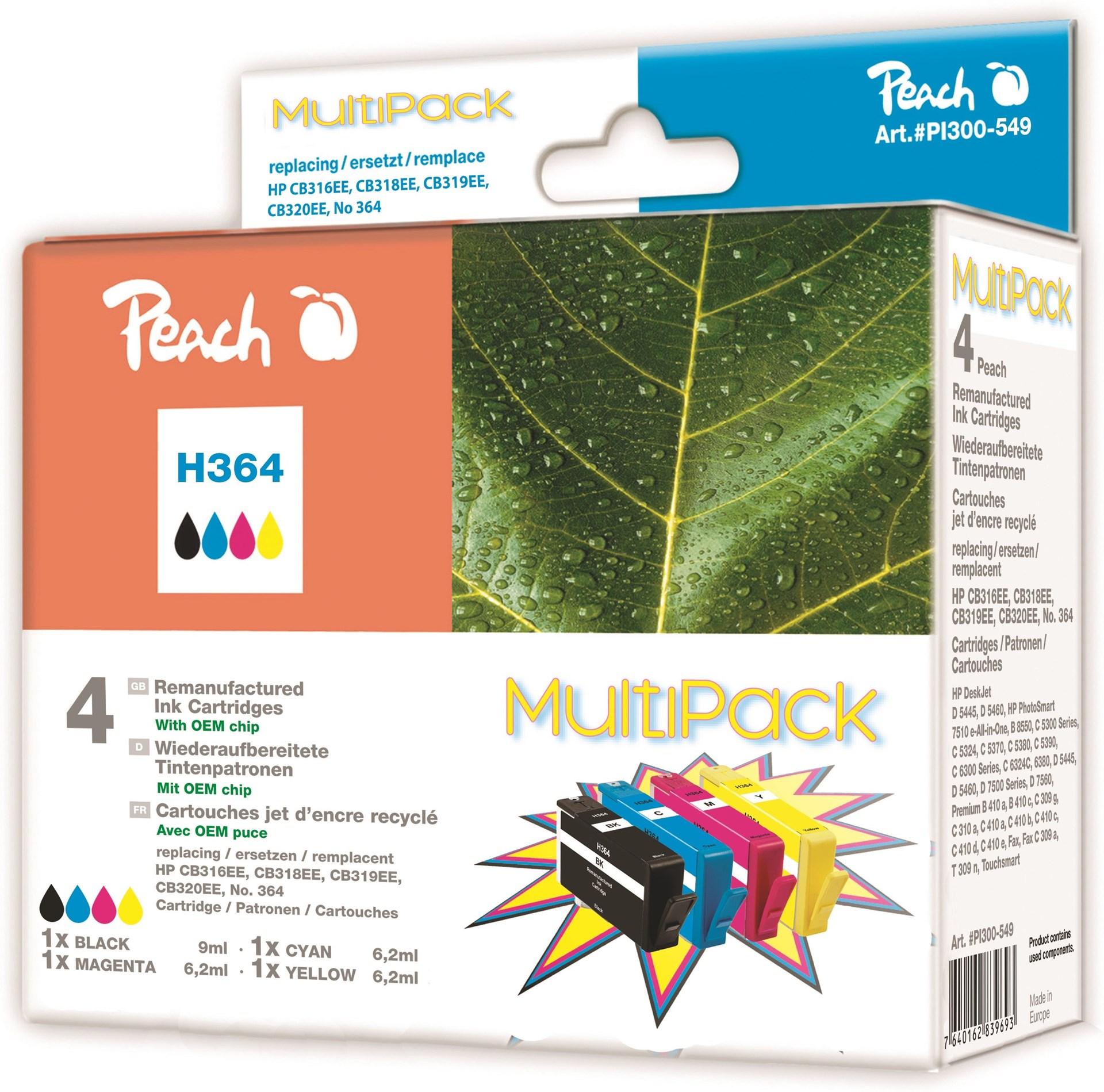 peach 364 multipack ers ttningspatroner till hp 364 multipack 4st patroner. Black Bedroom Furniture Sets. Home Design Ideas