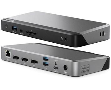 Alogic PRIME DX3 Dock - Universal dockningsstation med trippla 4K och 100W PD