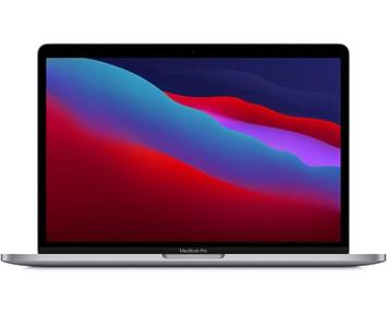 Apple  13-inch MacBook Pro with Touch Bar: M1 Chip, 8-Core CPU, 8-Core GPU, 16GB RAM, 256GB SSD - Space Gr