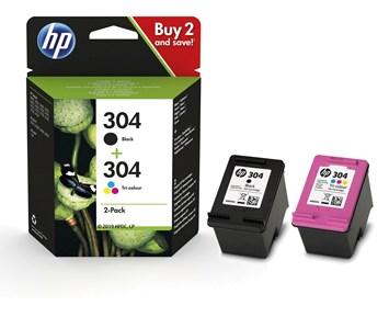 HP 304 2-pack black/color