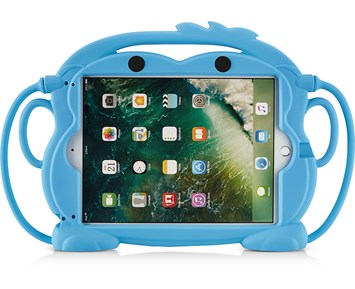 Andersson Silicone Protection iPadCover for Kids Monkey blue