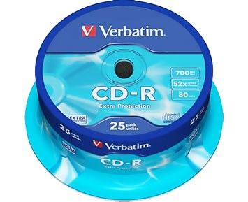Verbatim CD-R 700MB 52X 25p Spindle