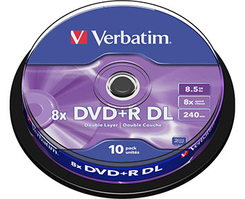 Verbatim DVD+R-DL 8,5GB 8X 10p