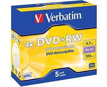 Verbatim DVD+RW 4.7GB 5p Jewelcase