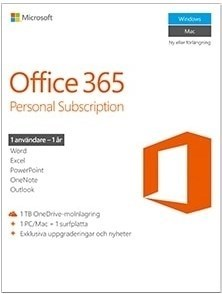 Microsoft Office 365 Personal Sverige