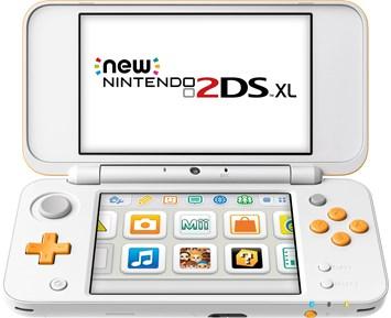 3DS New 2DS XL White + Orange