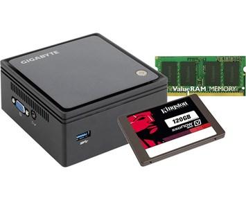 Gigabyte Brix 2807+RAM 8GB+V300 120GB - Brix mini-pc med 8GB