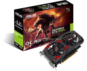 ASUS GeForce GTX1050TI CERBERUS OC 4GB