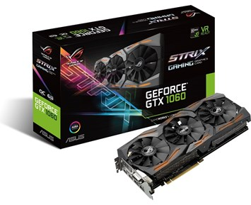 ASUS GeForce GTX1060 Strix OC 6GB