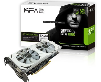 KFA2 Geforce GTX1060 EX OC White 6GB