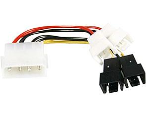Deltaco Adapterkabel för fläktar 4x3pi