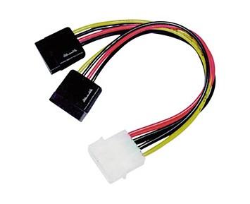 Deltaco Y-stromkabel for 2x Serial ATA