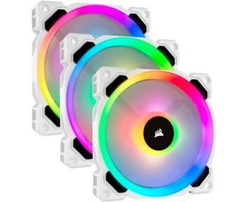 Corsair LL Series 120mm RGB White 3-pack