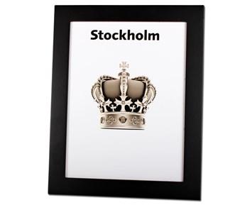 Estancia Stockholm Svart 18×24