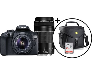 Canon EOS 1300D+Double kit+CAB2.0+16