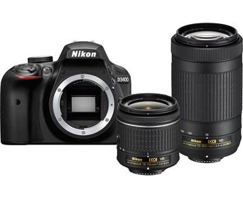 Nikon D3400 + 18-55 VR + 70-300 VR