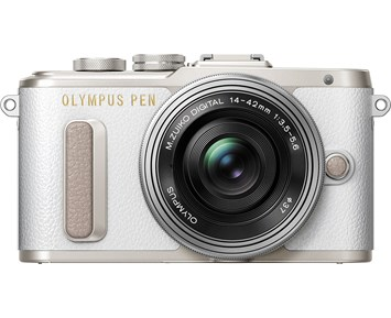 Olympus Pen E-PL8 Pancake Zoom Kit (White)