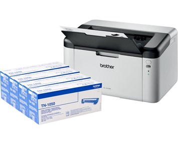 Brother HL-1210W + 4 Toner