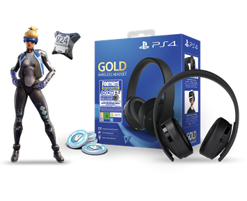 Sony PS4 Gold Wireless 7.1 Headset+Fortnite voucher