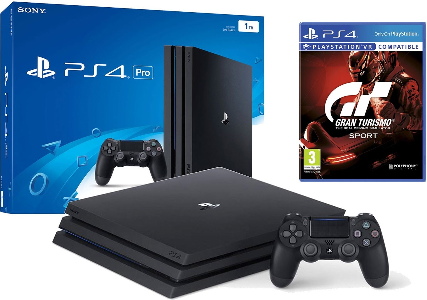sony ps4 pro 1tb gt sport playstation 4 pro 1 tb med gran turismo sport. Black Bedroom Furniture Sets. Home Design Ideas