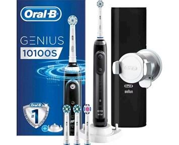 Oral-B Genius 10100s Black - Intelligent eltandborste med Bluetooth ... 5e1616e3a0b15
