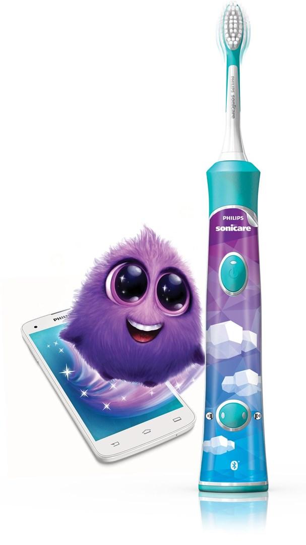 Philips HX6322 04 Sonicare Kids. Barntandborste med Bluetooth och App till  smartphone. (160 st). 479 - Oral-B Junior Green 7ecc2d1cad8cb