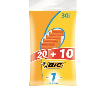 Bic One blad male shaver 30pcs