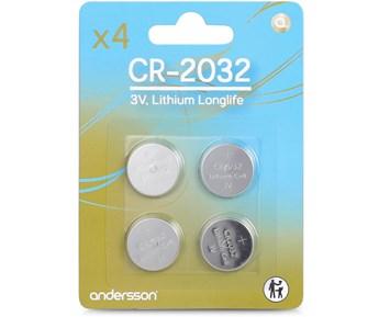 Andersson 4-pack CR2032 Longlife Knappcellsbatterier