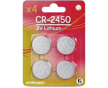 Andersson 4-pack CR2450 Knappcellsbatterier