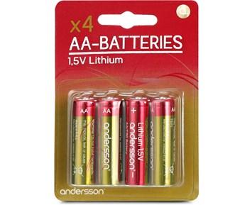 Andersson 4-pack Litium AA-batterier FR06