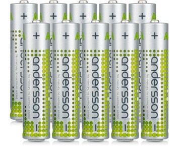 Andersson 10-pack AAA alkaliska batterier