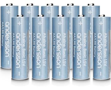 Andersson 10-pack alkaliska AA-batterier