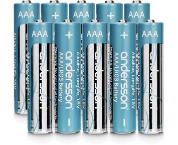 Andersson 10-pack Longlife AAA-batterier
