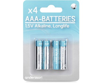 Andersson 4-pack Longlife AAA-batterier
