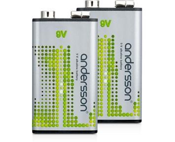 Andersson 9V 2-pack Alkaline