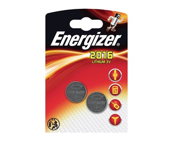 Energizer Cr2016/B2/2-Pack/3V