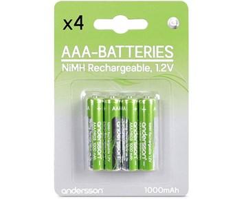 Andersson Laddningsbara AAA-batterier HR03 1,2V 1000mAh