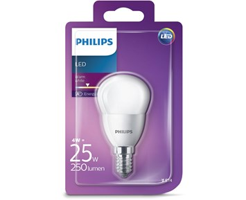 Philips Led klot (4W) 25W E14 frostad