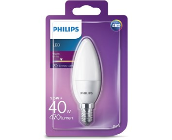 Philips Led kron (5.5W) 40W E14