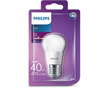Philips Led (5.5W) 40W E27 klot