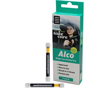 SaveLivesNow Alco Single-use Alcohol Test 02 2-pack