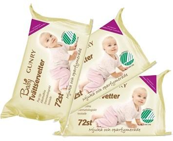 Gunry Baby tvättservetter 72st x3