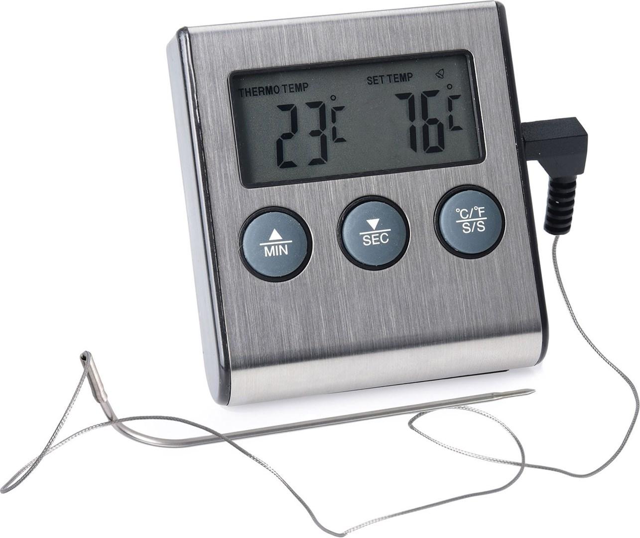 Digital stektermometer med nedräkningstimer